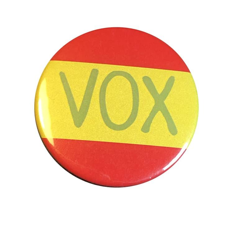 , CHAPA POLITICA – VOX BANDERA ESPAÑA