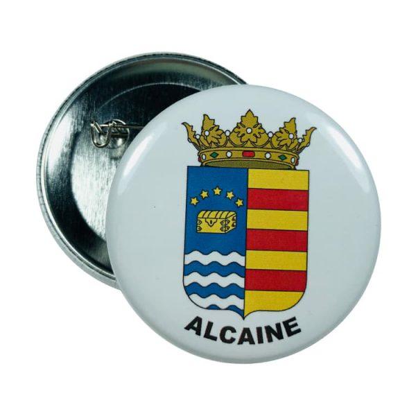 chapa escudo alcaine