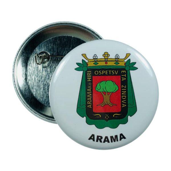 chapa escudo arama