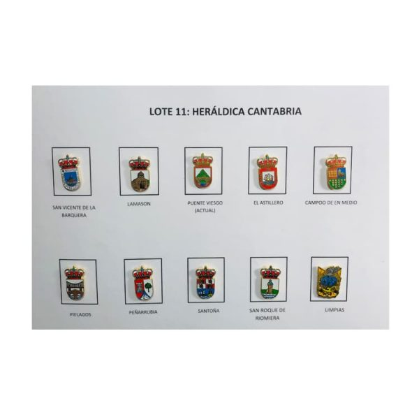 lote pins heraldica cantabria