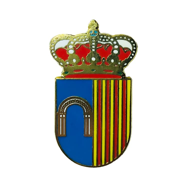 pin heraldico escudo berrocalejo de aragona