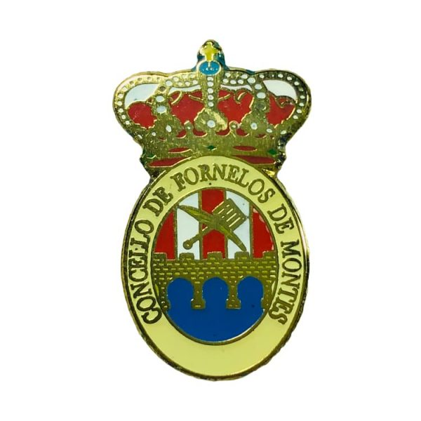 pin heraldico escudo fornelos de montes pontevedra