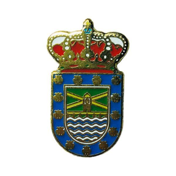 pin heraldico escudo la isla de arosa pontevedra