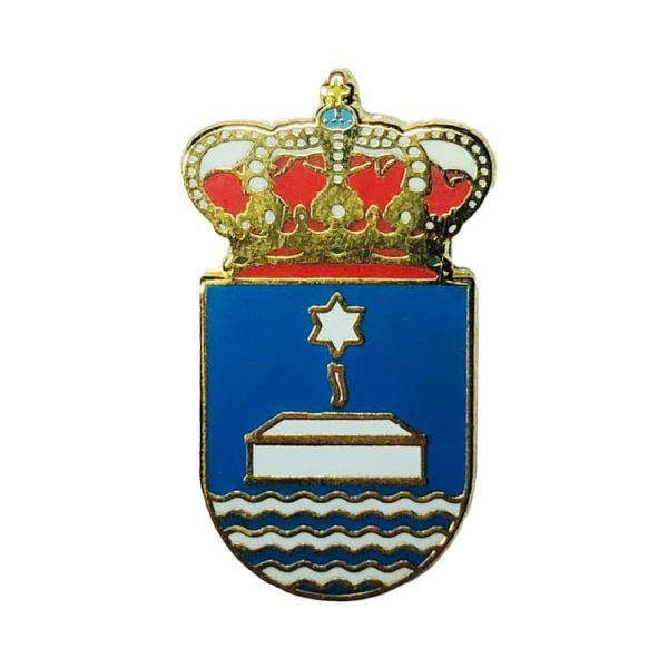 pin heraldico escudo valle del dubra la coruna