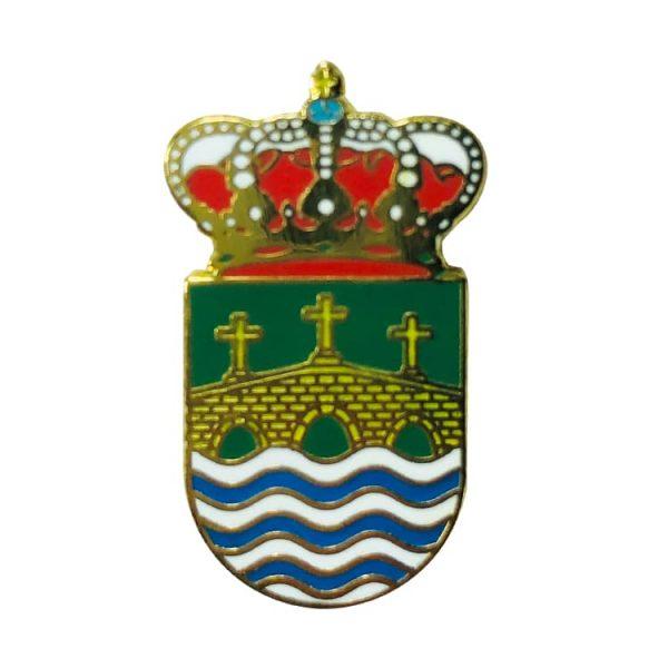 pin heraldico escudo villa de cruces pontevedra