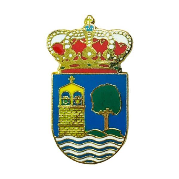 pin heraldico escudo villanueva de arousa pontevedra