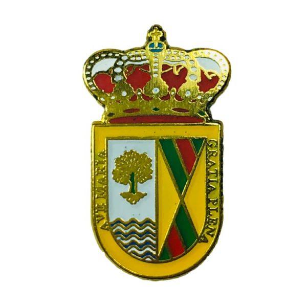 pin heraldico escudo zarza de tajo cuenca