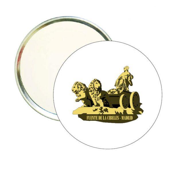 espejo redondo fuente de la cibeles madrid