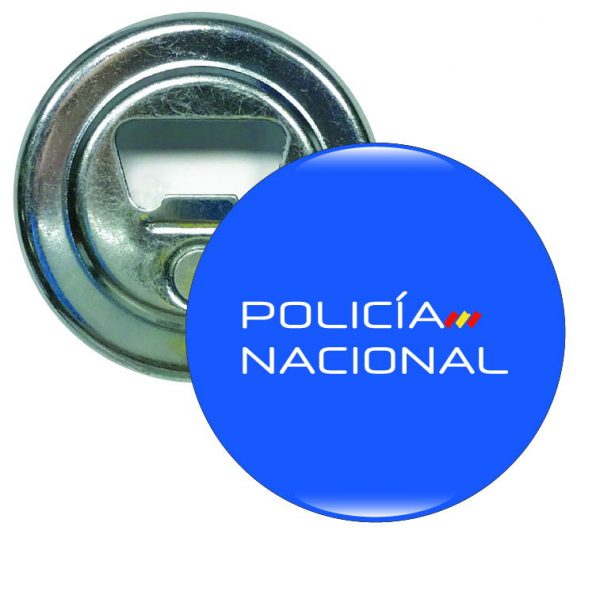 abridor redondo policia nacional bandera espana