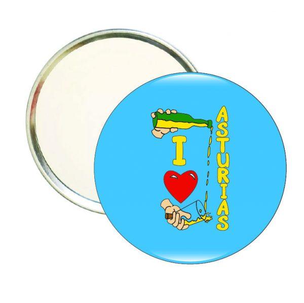 espejo redondo i love asturias sidra
