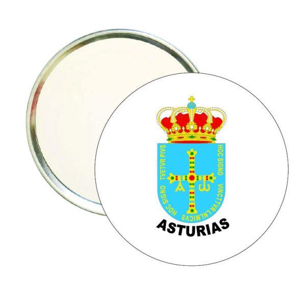 espejo redondo escudo heraldico asturias