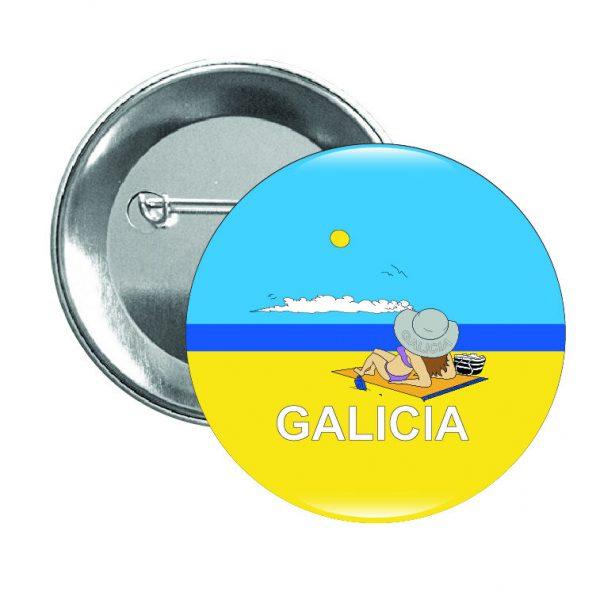 195 chapa galicia playa