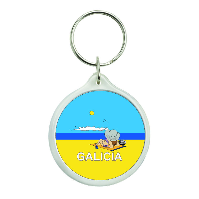 llavero redondo galicia playa