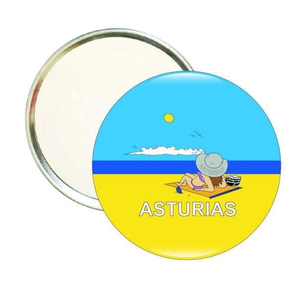 199 espejo redondo asturias playa