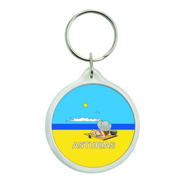 llavero redondo asturias playa