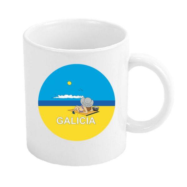 taza galicia playa