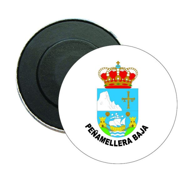 iman redondo escudo heraldica penamellera baja