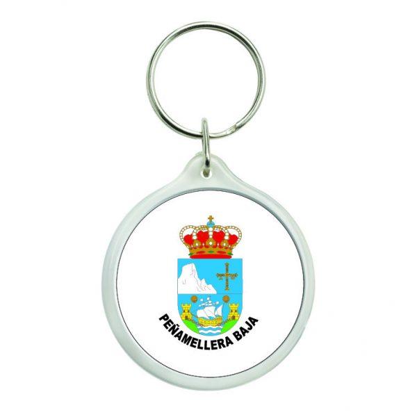 llavero redondo escudo heraldico penamellera baja