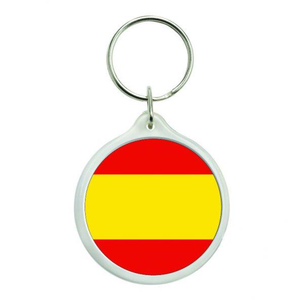 llavero redondo bandera espana