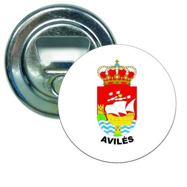 abridor redondo escudo heraldico aviles