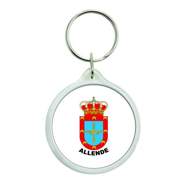 llavero redondo escudo heraldico allende