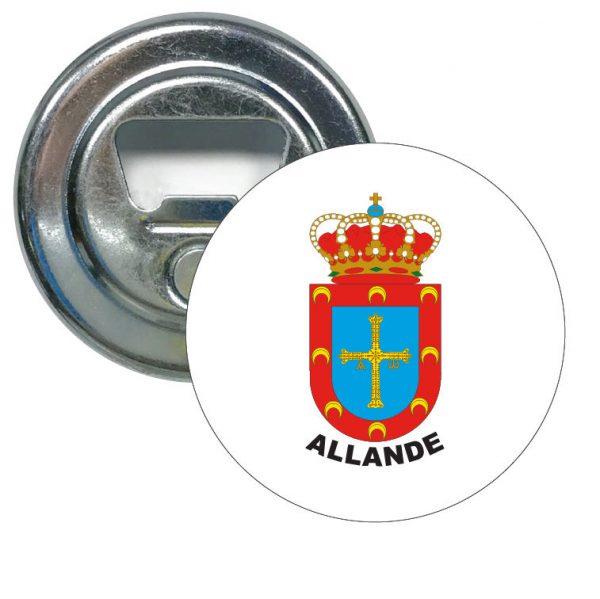 abridor redondo escudo heraldico allande