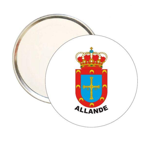 espejo redondo escudo heraldico allande