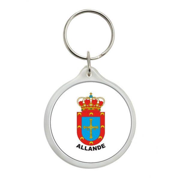 llavero redondo escudo heraldico allande