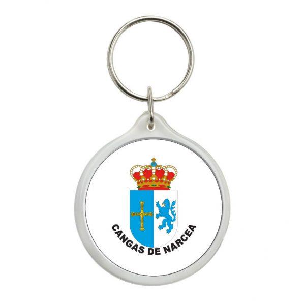 llavero redondo escudo heraldico cangas de narcea