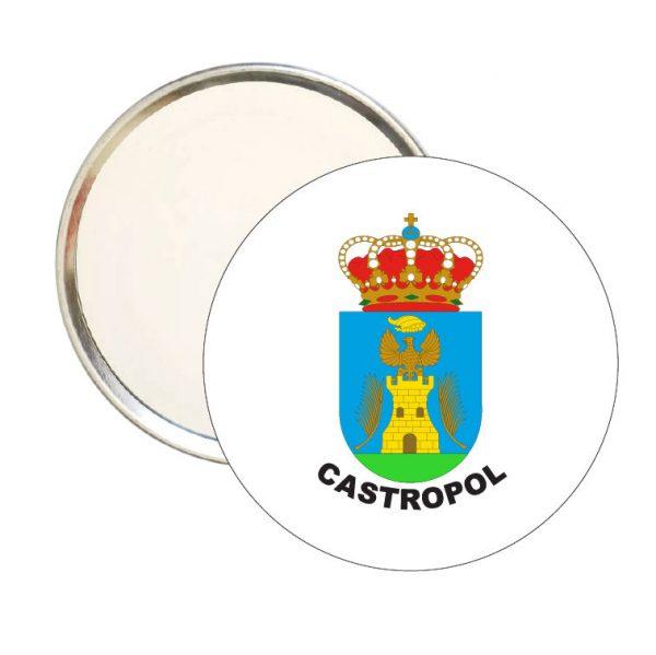 espejo redondo escudo heraldico castropol