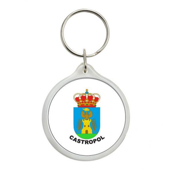 llavero redondo escudo heraldico castropol