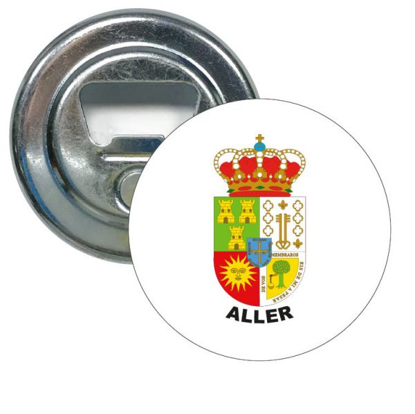 abridor redondo escudo heraldico aller