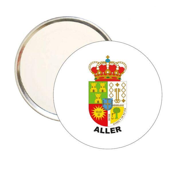 espejo redondo escudo heraldico aller