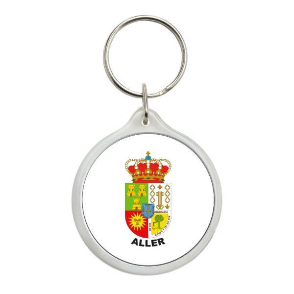 llavero redondo escudo heraldico aller