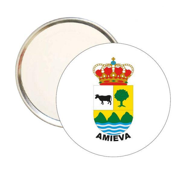 espejo redondo escudo heraldico amieva
