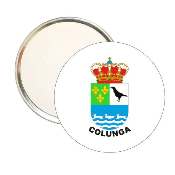 espejo redondo escudo heraldico colunga