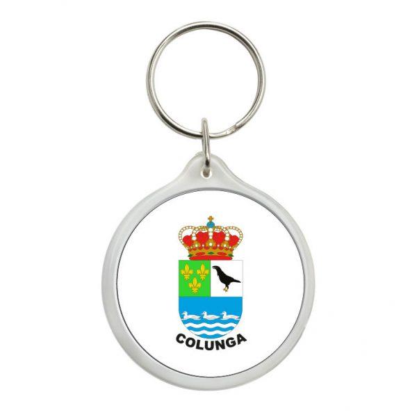llavero redondo escudo heraldico colunga