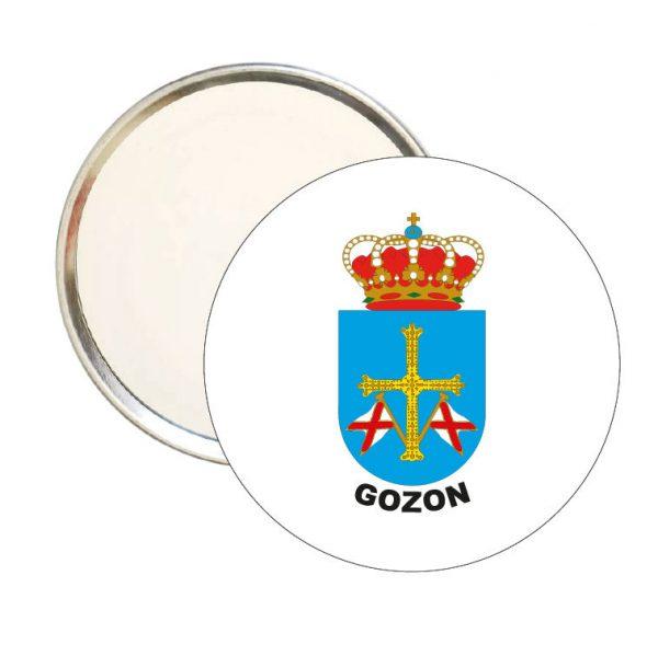 espejo redondo escudo heraldico gozon