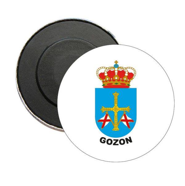 iman redondo escudo heraldico gozon