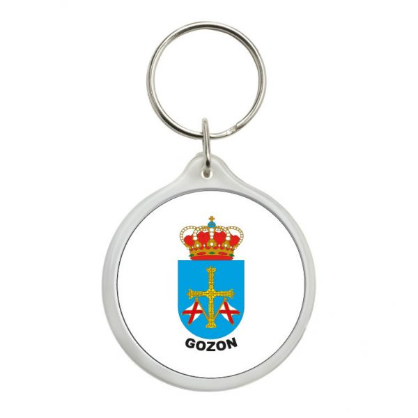 llavero redondo escudo heraldico gozon