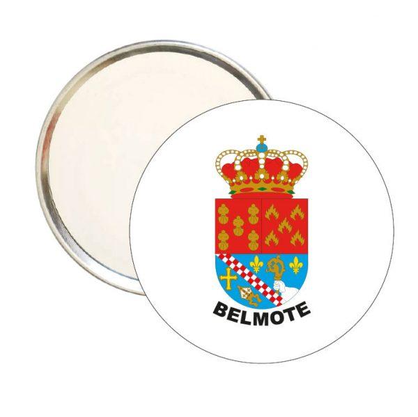 espejo redondo escudo heraldico belmonte