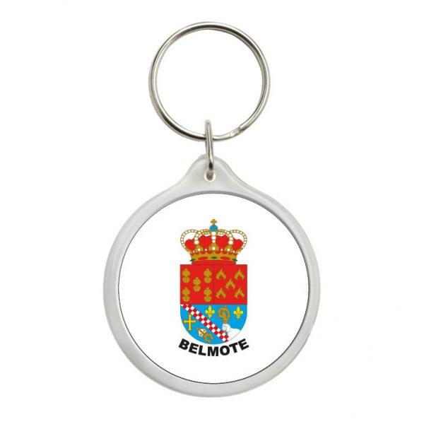 llavero redondo escudo heraldico belmote