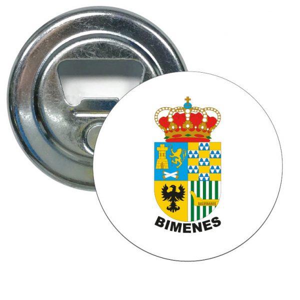 abridor redondo escudo heraldico bimenes