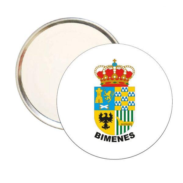 espejo redondo escudo heraldico bimenes