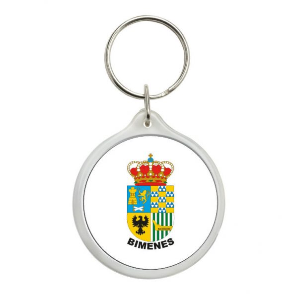 llavero redondo escudo heraldico bimenes