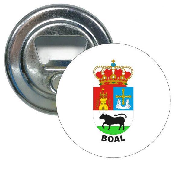 abridor redondo escudo heraldico boal