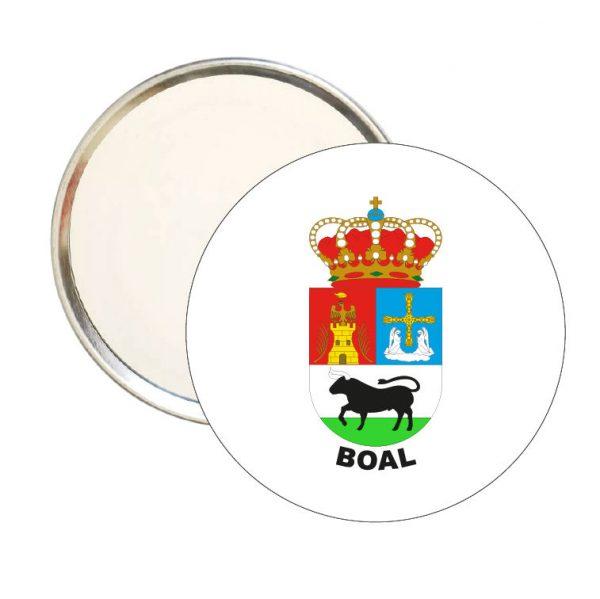 espejo redondo escudo heraldico boal