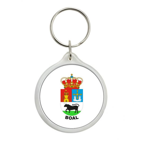 llavero redondo escudo heraldico boal