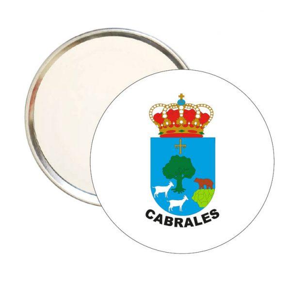 espejo redondo escudo heraldico cabrales