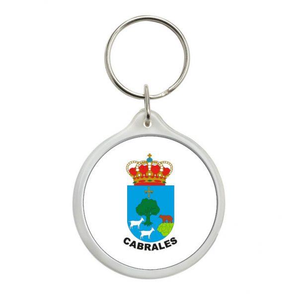 llavero redondo escudo heraldico cabrales